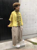 コーディネート提案会での黄色スタイル